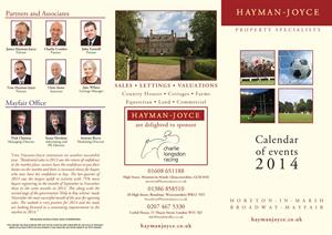 The new Hayman-Joyce events calendar for 2014